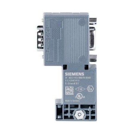 6ES7 972-0BB70-0XA0 Siemens DP,BUS CONNECTOR FOR PROFIBUS UP TO 12 MBIT/S 90 DEGREE ANGLE CABLE OUTLET